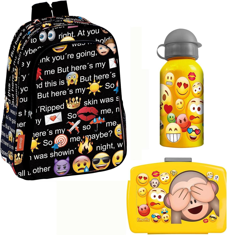 Emoji Rucksack 37x29 x11 Sporttasche emotix  Brotdose    Aluflasche Smiley (46) B075GY187H | Won hoch geschätzt und weithin vertraut im in- und Ausland vertraut  e548e9