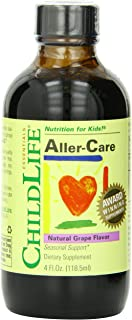 ChildLife Essentials Aller-Care for Infants, Babys, Kids, Toddlers, Children, and Teens, Glass Bottle, 4-Ounce