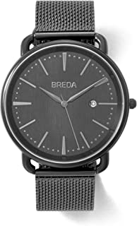 BREDA Men's 'Linx' 5016 Stainless Steel Mesh Bracelet Watch, 42MM