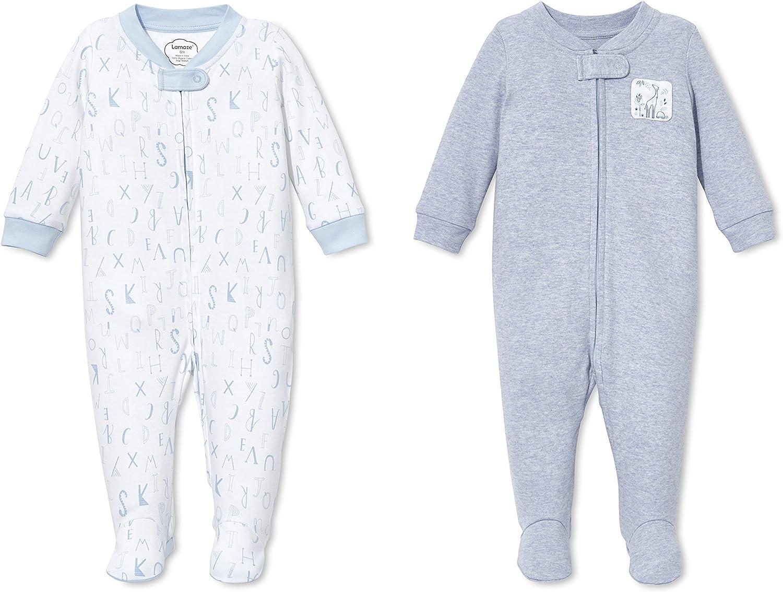 Lamaze Organic Baby Baby Girls' Sleep N Play, Footed Sleepwear, 2 Pack
