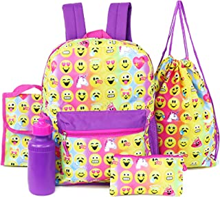Emojination 5 Piece Backpack School Accessories Set (Ombre)