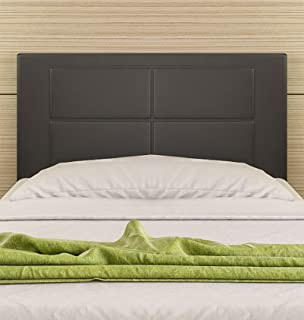 Hogar24-Cabecero Cama tapizado 105 x 55 x 3,0 cm, válido para Cama 80, 90, y 105 cm (Negro)
