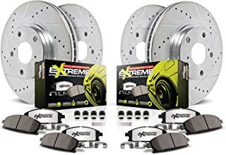Power Stop K5958-26 Z26 Street Warrior Brake Kit (Extreme Performance Pads with Drilled/Slotted Rotors)