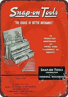 Custom Kraze 1958 Snap On Tool Catalog Vintage Look Reproduction Metal Sign 8x12 USA