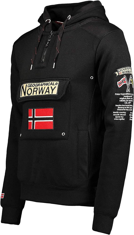 Sweat /À Capuche Poche Kangourou Homme Sweatshirt Logo Homme Pull Hood Veste Sweat Shirt Hoody Chaud Manches Longues Geographical Norway GYMCLASS Men Hoodie Sport Regulier