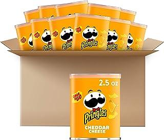 Pringles Potato Crisps Chips, Cheddar Cheese 2.5oz (12 Count)