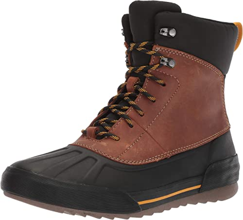 Clarks Men's Bowman Peak botas, dark tan leather, 090 M US