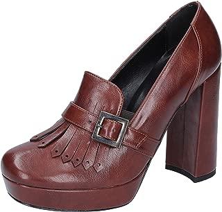 BOTTEGA LOTTI Moccasins Womens Leather Brown