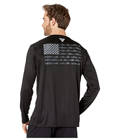 Columbia Terminal Tackle PFG Fishtm Long Sleeve Shirt (Black/Grill) Men