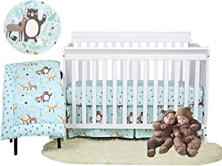 Fox floral fitted Crib woodland sheet buck outdoors baby cot sheet changing mattress receiving blanket baby gift new born Bedding