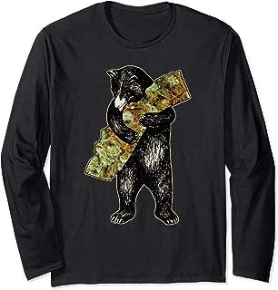Marijuana I Love Weed California Shirt Art-Retro Cali Bear Long Sleeve T-Shirt