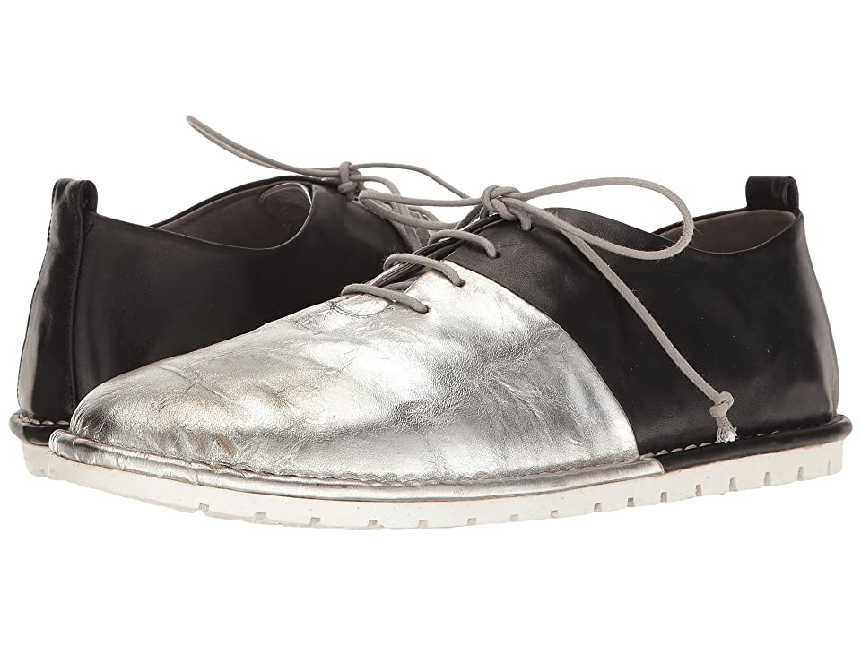 Marsell Gomma Bicolor Lace-Up Pull-On Oxford (Black/Silver) Men