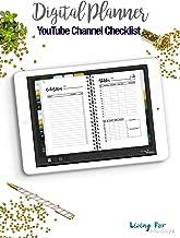 Digital Journal YouTube Planner Checklist / YouTube Planner for your Journal: Plan your Day and reach your Goals
