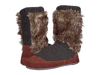 Acorn Kids Slouch Boot (Toddler/Little Kid/Big Kid) (Charcoal Fur) Kids Shoes