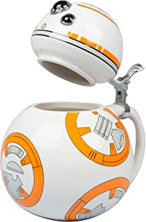 Star Wars BB-8 Beer Stein - Collectible Ceramic Mug with Metal Hinge - 32 oz