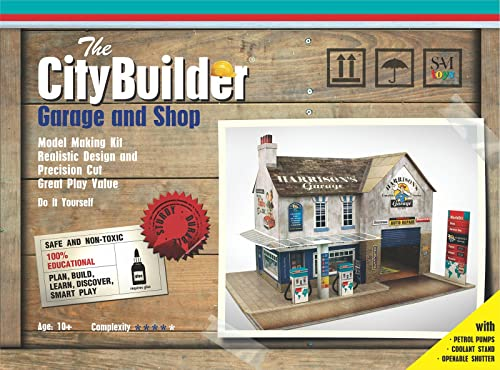 The CityBuilder 1:43 Scale O Gauge Garage and Shop Model Making Kit (7 mm)