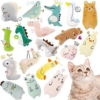 Skylety 18 Pieces Catnip Cat Toys Push Interactive Chew Toys Cute Kitten Catnip Toys Cat Entertaining Toys Set for Pet Cat...