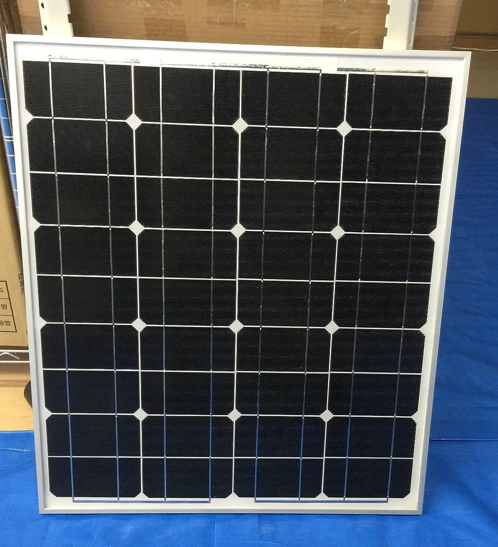 挨拶する中央粘液50W 12v 単結晶 シリコン ソーラーパネル 太陽光パネル 超高品質 新型 割れにくいガラス使用 ダイオード内臓、 PL保険加入所品