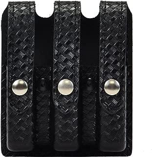 Safariland Duty Gear Glock 17, 22, 34, 35 Flat Top Slimline Triple Magazine Pouch (Basketweave Black)