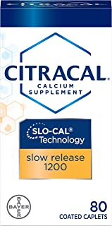 Citracal Calcium + D Slow Release 1200 Tablets 80 Tablets (Pack of 4)