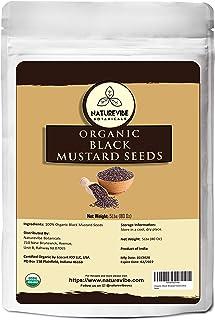 Naturevibe Botanicals Organic Black Mustard Seed, 5lbs   Gluten-Free & Non-GMO (80 ounces)