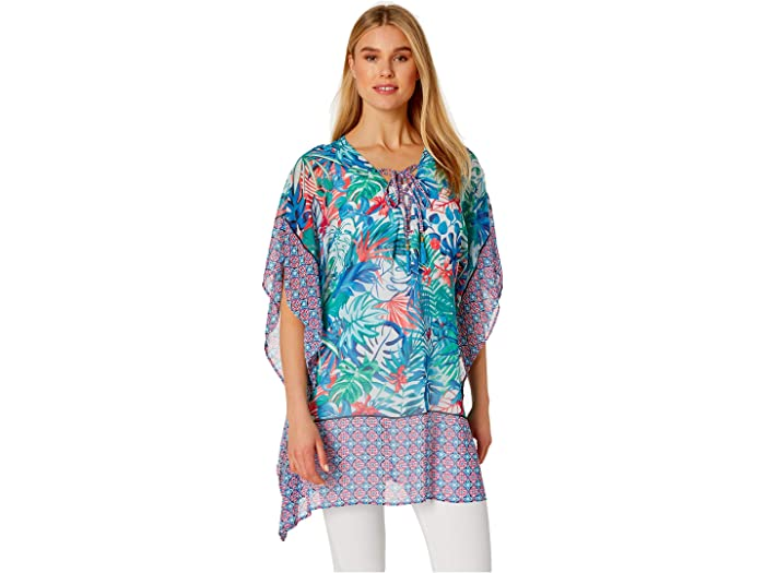 Tommy Bahama Palm Party Lace-Up Tunic - Cheap Buy Women Clothing