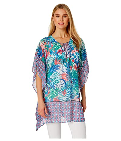 Tommy Bahama Palm Party Lace-Up Tunic (White) Women