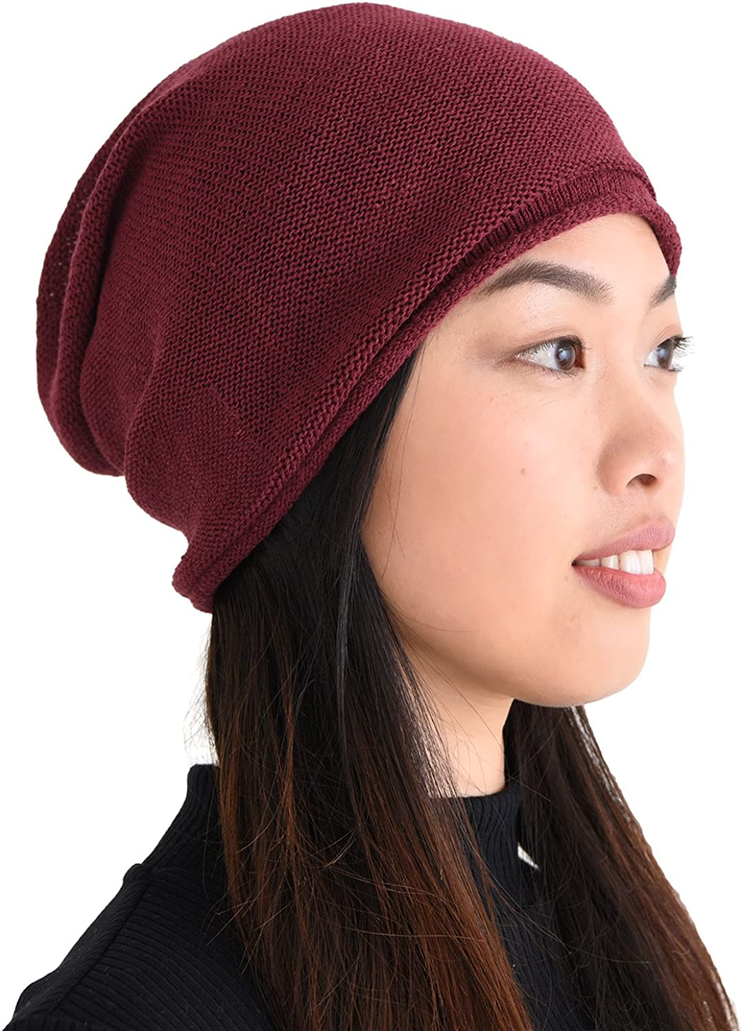 CHARM New arrival Silk Beanie Hat for Men Women Oversized - Cheap Slouchy and Chem
