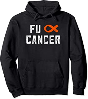 Fck Cancer Leukemia Awareness Gift Chemo F Cancer Distress Pullover Hoodie