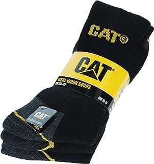 Caterpillar, 3 Pares Calcetines CAT CATPERILLAR de trabajo para hombres reforzados en el talón y la punta, excelente calidad de Algodón