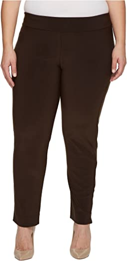 Plus Size Microfiber Long Skinny Dress Pants