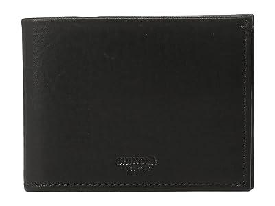 Shinola Detroit Slim Bifold (Black) Wallet Handbags