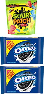 OREO Original Chocolate Sandwich Cookies & SOUR PATCH KIDS Candy Sweet & Sour Snacks Variety Pack, Family Size, 3 Packs