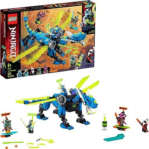 new arrival LEGO NINJAGO Jay's wholesale Cyber Dragon 71711 Ninja Action Toy Building Kit 2021 (518 Pieces) sale