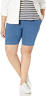 JUST MY SIZE Women's Apparel Women's Plus Size 2 Pocket Pull on Short