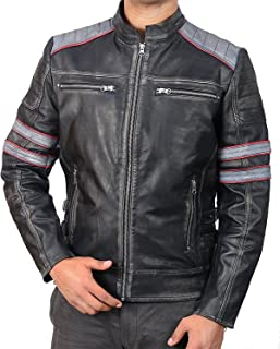 Men's Cafe Racer Vintage Style Motorcycle Leather Jacket | Vintage Cafe Racer Jacket