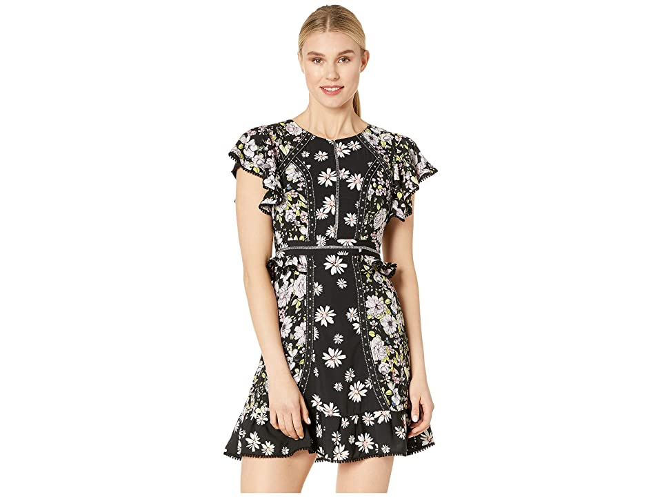 Laundry by Shelli Segal Floral Studded Dress (Black Multi) Women