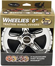 Good Vibrations 186 2 Count Tractor Wheel Covers, 6-Inch