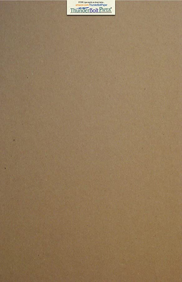25 Sheets Chipboard 24pt (point) 12 X 18 Inches Light Weight Large|Poster Size .024 Caliper Thick nessCardboard Craft Packaging Brown Kraft Paper Board