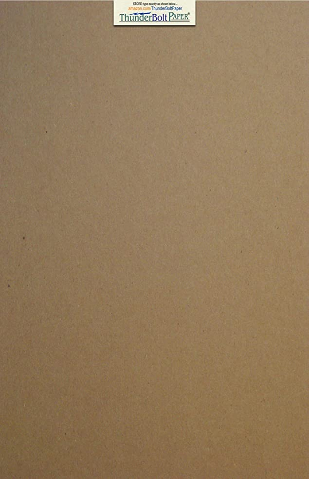 20 Sheets Chipboard 20pt (point) 11 X 17 Inches Light Weight Tabloid Size .020 Caliper Thick Cardboard Craft Ship Brown Kraft Paper Board