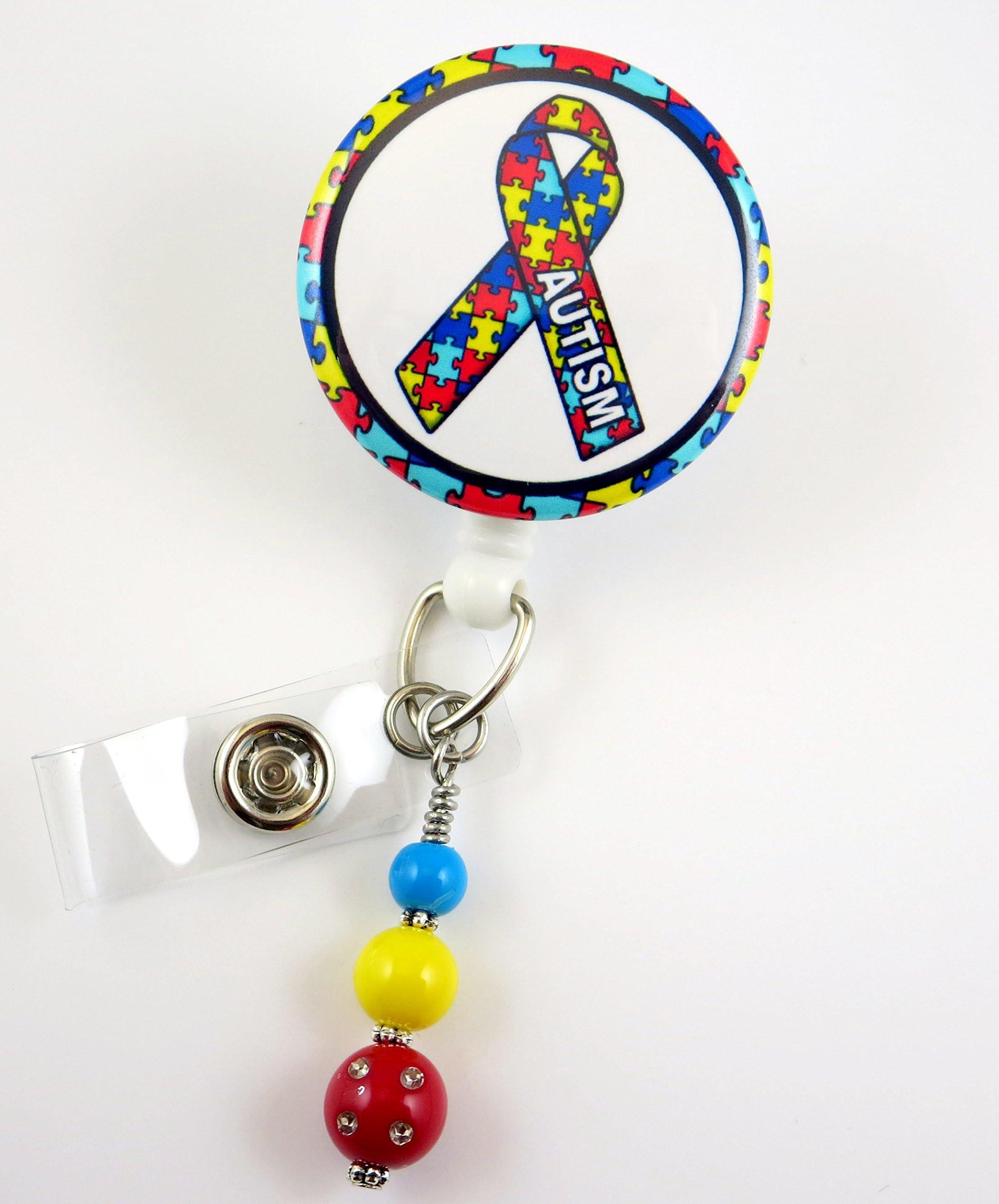Rehab Nurse Retractable ID Badge Holder-Name Badge Holder-Nurses Badge-Badge Clip-Badge Reels-Pediatric-RN-Nursing Badge Holder