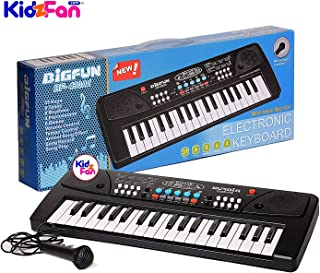 JIADA 37 Key Piano Keyboard Toy with DC Power Option, Recording and Mic for Kids - 2018 Latest Model