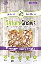 Nature Gnaws Bully Stick Springs - 100% Natural Beef Dog Chews