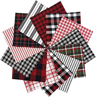 40 Buffalo Lodge Charm Pack, 5 inch Precut Cotton Homespun Fabric Squares by JCS