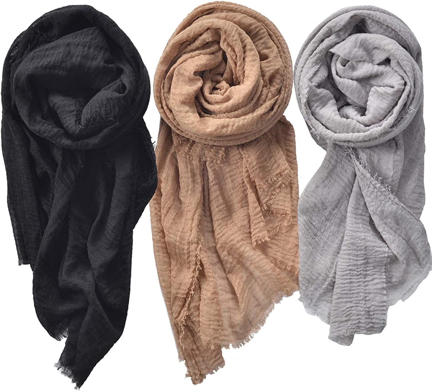 Woogwin 3PCS Womens Scarf Shawl Soldering Ladies Max 72% OFF Scarves Wrap Head Light