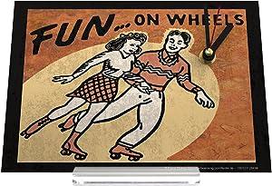 orologio dello scrittorio Divertimento Il divertimento coppia pattino Decorativa