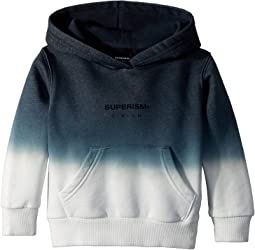 SUPERISM Silas Logo and Rose Hooded Fleece (Toddler/Little Kids/Big Kids)