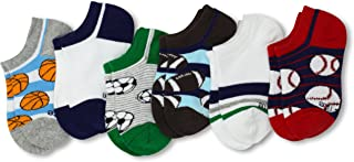 Stride Rite Little Boys' 6 Pack Striped Sports No Show