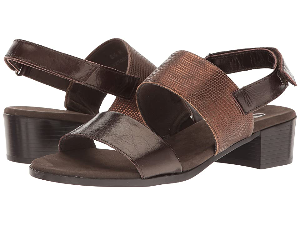 Munro Kristal (Brown/Brown Lizard Trim) Women