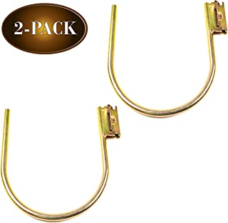 """DC Cargo Mall E-Track Large 7"""" J Hook Tie Down Accessory (2 Pack) for Enclosed Trailer/RV for Helmets, Ropes, Motorcycle J..."""